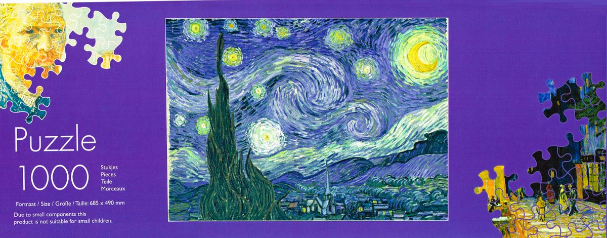 v Gogh puzzelkoker inlay Sterrennacht 1000 pcs
